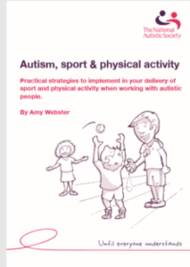 front cover of Autism, sport and physical activity booklet